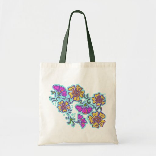 Yellow and Pink Mehndi Flowers Bags