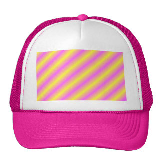 Yellow and Pink Neon Sideway Lines Cap
