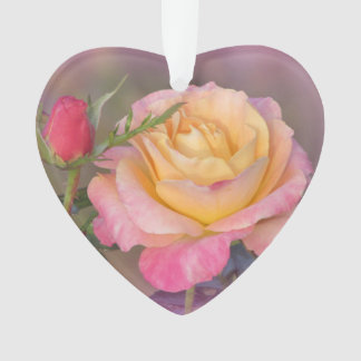 Yellow and Pink Roses Ornament