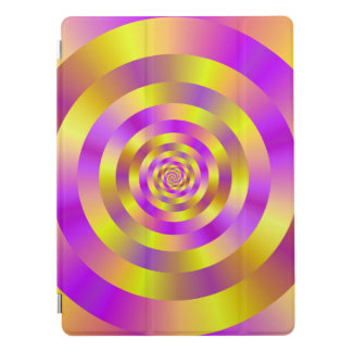 Yellow and Pink Spiral Rings iPad Pro Cover