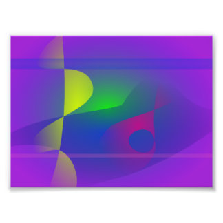 Yellow and Purple Abstract Composition Photo Print