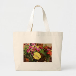 Yellow and Purple and Orange Flowers Bouquet Bag