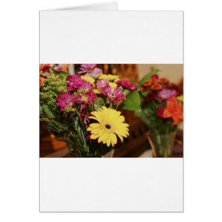 Yellow and Purple and Orange Flowers Bouquet Greeting Card