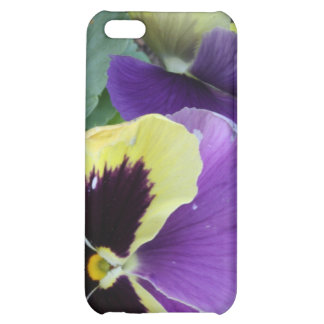 Yellow and Purple Pansy Floral Photo iPhone 5C Covers