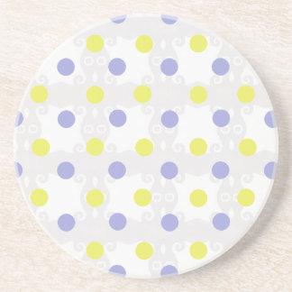 Yellow and Purple Polka Dot Coaster