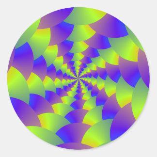 Yellow and Purple Spiral Sticker