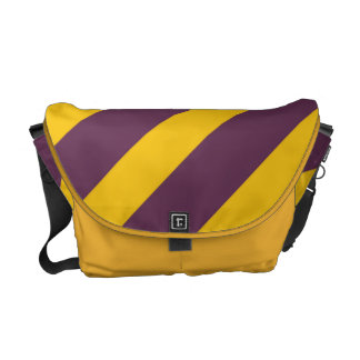 Yellow And Purple Sripes Courier Bags