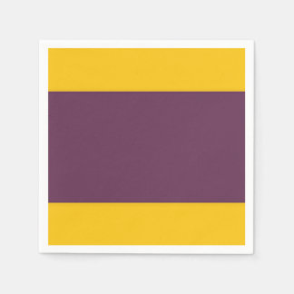 Yellow And Purple Sripes Disposable Serviettes