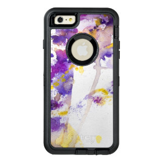 yellow and purple watercolor background OtterBox iPhone 6/6s plus case