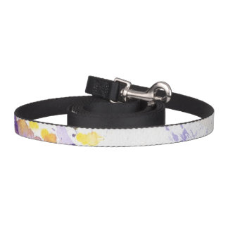 yellow and purple watercolor background pet lead