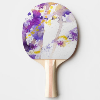 yellow and purple watercolor background ping pong paddle