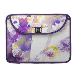 yellow and purple watercolor background sleeve for MacBooks