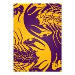 Yellow and Purple Yin Yang Scorpions Invite