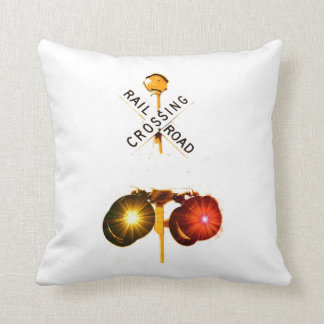 Yellow And Red Flashing Lights Cushion