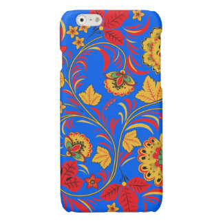 Yellow and Red Floral Ornament iPhone 6 Plus Case
