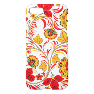 Yellow and Red Floral Ornament iPhone 7 Case