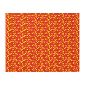 yellow and red flower pattern wood canvases