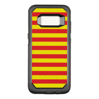 Yellow and Red Horizontal Stripes OtterBox Commuter Samsung Galaxy S8 Case