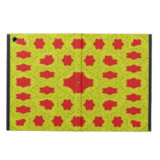 Yellow and red pattern cover for iPad air