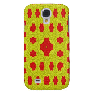 Yellow and red pattern galaxy s4 case