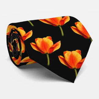 Yellow-and-Red Streaked Tulips Tie