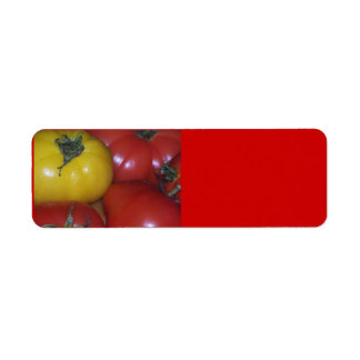 Yellow and Red Tomato Avery Label Return Address Label