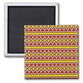 Yellow and red tribal pattern refrigerator magnets