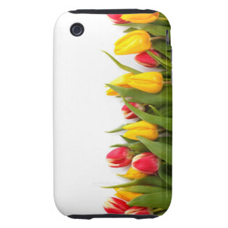 Yellow and Red Tulips Tough iPhone 3 Covers