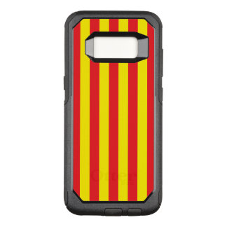 Yellow and Red Vertical Stripes OtterBox Commuter Samsung Galaxy S8 Case