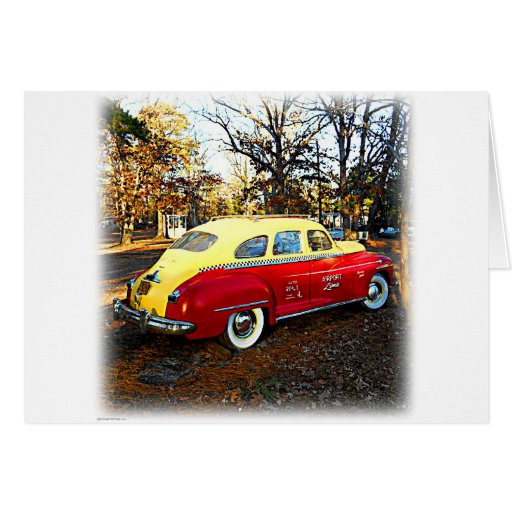 Yellow and Red Vintage Airport Limo Card