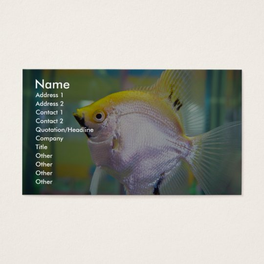 Yellow And Silver Fish In The Tank Business Card