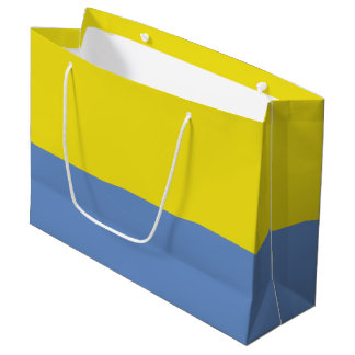 Yellow and Sky Blue Large Gift Bag