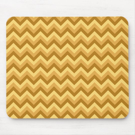 Yellow and Tan Zigzag Stripes. Mouse Mat