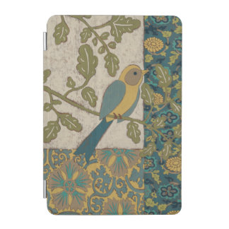 Yellow and Teal Blue Bird Perched on a  Branch iPad Mini Cover