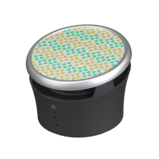 Yellow and Teal Snowflakes Bluetooth Speaker