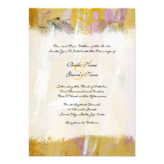 Yellow and White Artistic Wedding Invitation