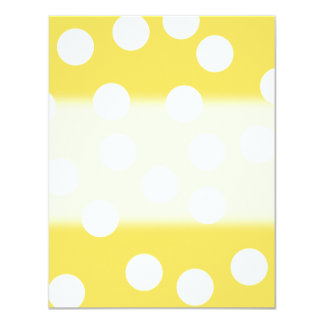 Yellow and White Big Dot Pattern. Personalized Announcement