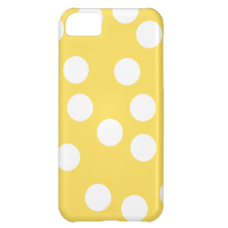 Yellow and White Big Dot Pattern. iPhone 5C Case