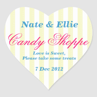 Yellow and white Candy Shoppe Sticker