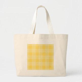Yellow and White Check Jumbo Tote Bag