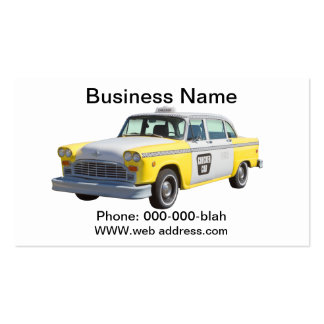 Yellow and White Checkered Taxi Cab Pack Of Standard Business Cards