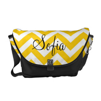 Yellow and White Chevron Modern Diaper Bag Commuter Bags