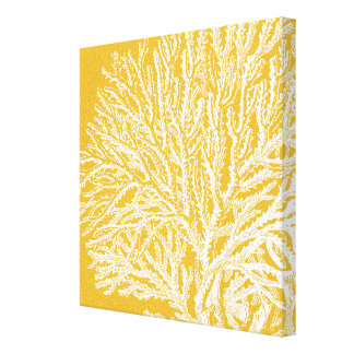 Yellow and White Coral Canvas Print