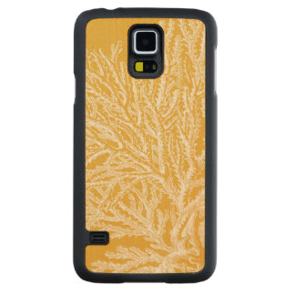 Yellow and White Coral Carved Maple Galaxy S5 Case