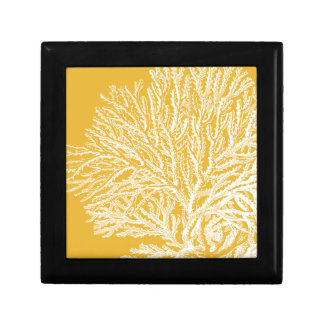 Yellow and White Coral Gift Box
