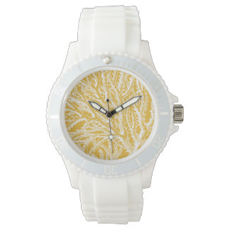 Yellow and White Coral Wristwatches