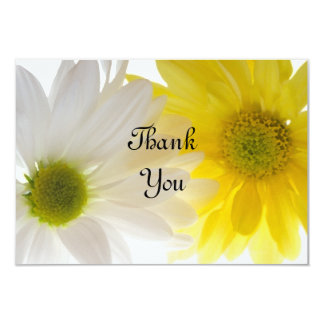 Yellow and White Daisies Flat Thank You Notes Card