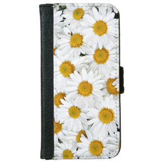 Yellow and white daisies iPhone 6 wallet case