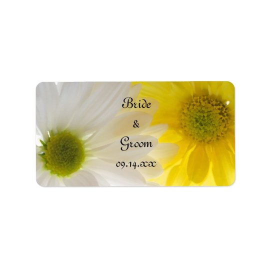Yellow and White Daisies Wedding Favour Tags