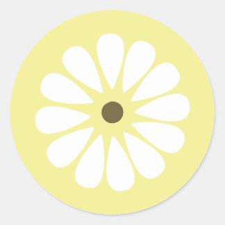 Yellow and White Daisy Sticker